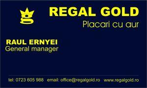 Carti de vizita - Regal Gold