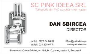 Carti de vizita - Pink Ideea