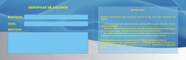 Certificat de garantie bijuterii - interior