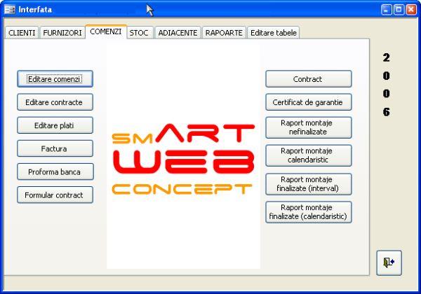 Aplicatie software pentru gestionarea activitatii unei firme mici de productie de tamplarie din pvc si aluminiu - interfata
