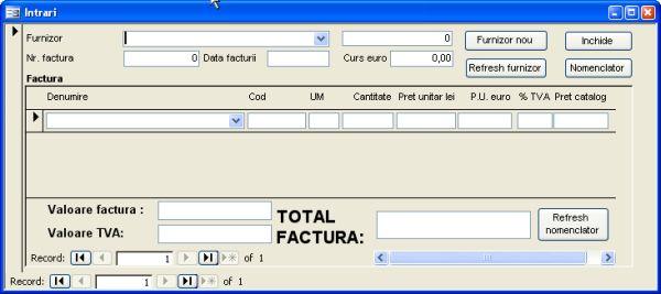 Aplicatie software pentru gestionarea activitatii unei firme mici de productie de tamplarie din pvc si aluminiu - formular intrari