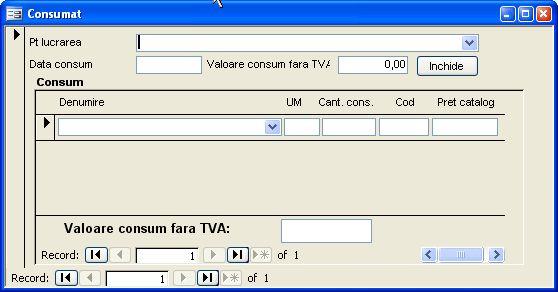 Aplicatie software pentru gestionarea activitatii unei firme mici de productie de tamplarie din pvc si aluminiu - formular consumuri